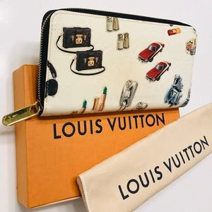 LOUIS VUITTON Stickers Animation Vernis Zip Wallet